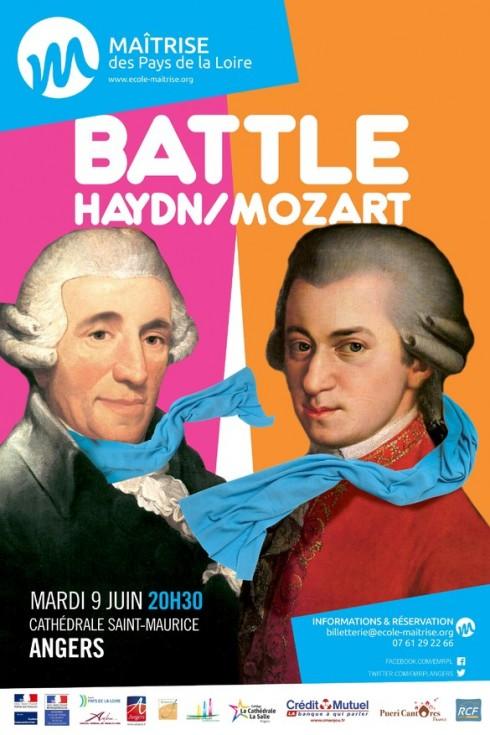 Maîtrise - affiche Battle Haydn / Mozart 2015